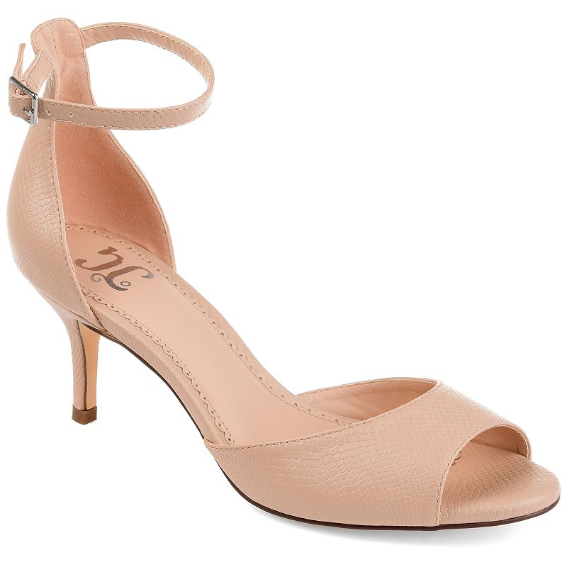 Add a hint of romance to all of your favorite looks when you wear these feminine Narelle sandals from Journee Collection. SANDAL FEATURES Sleek silhouette Kitten heel SANDAL CONSTRUCTION Faux leather upper Polyurethane lining Rubber, faux leather outsole SANDAL DETAILS Open toe Buckle closure Padded footbed 1.75-in. heel 0.5-in. platform Size: 12. Color: Beig/Khaki. Gender: female. Age Group: adult. Material: Synthetic.