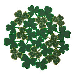 Celebrate St. Patrick's Day Together Shamrock Cutout Placemat