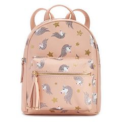 Glittery Unicorn Print Mini Backpack