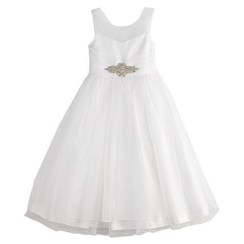 8ca80a670b9 Girls 7-16 Bonnie Jean Organza Fit   Flare Dress