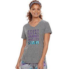 Women's Tek Gear® Dry-Tek V-neck Tee
