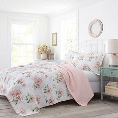 Laura Ashley Lifestyles Honeysuckle Quilt Set