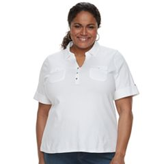 Plus Size Croft & Barrow® 2-Pocket Henley Polo