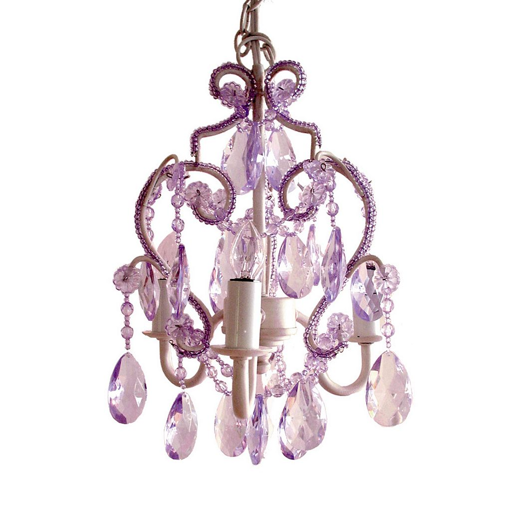 Sleeping Partners 3-Bulb Mini Chandelier - Lavender