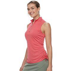 Women's Grand Slam Striped Sleeveless Golf Top