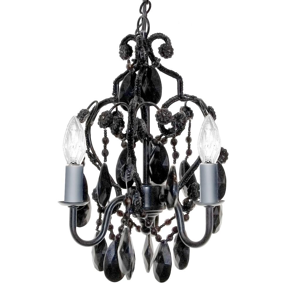Sleeping Partners 3-Bulb Mini Chandelier - Black