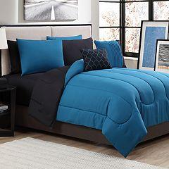 Solid 9-piece Reversible Comforter Set