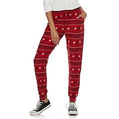 Juniors' SO® Holiday Joggers