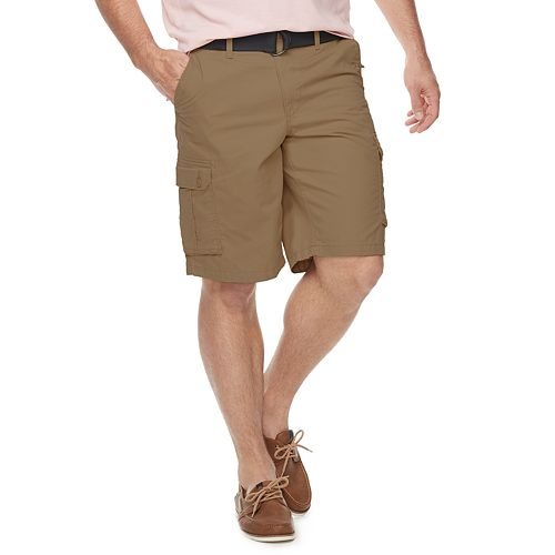 Big & Tall SONOMA Goods for Life™ Belted Twill Cargo Shorts