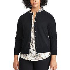 Plus Size Chaps Button-Front Cardigan