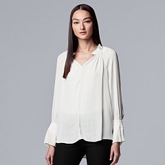 Women's Simply Vera Vera Wang Pleated Peasant Top