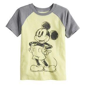 Disney's Mickey Mouse Boys 4-12 Raglan Slubbed Tee by Jumping Beans®