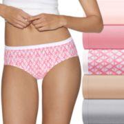 Hanes Ultimate 6-pk. Ultra Soft Cotton Comfort Hipster Panties 41HUC6