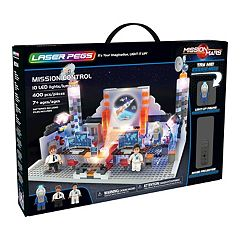 Laser Pegs Mission Mars Mission Control 400-piece Lighted Construction Block Set