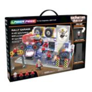Laser Pegs Monster Rally Off-Road Truck Garage 600-piece Construction Block Set