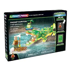 Laser Pegs Creatures Swamp Survival 240-piece Construction Block Set