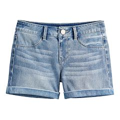 Girls 7-16 & Plus Size SO® Cuffed Jean Shorts