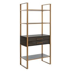 Safavieh Skylar 4-Tier 1-Drawer Etegere Shelf