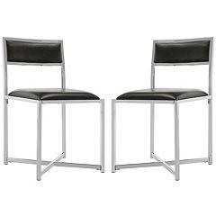 Safavieh Menken 2-piece Chrome Side Chair Set