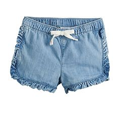 35546d40d Baby Girl Jumping Beans® Ruffle-Trim Shorts