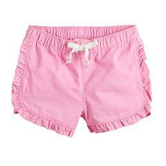 75e88106a26 Baby Girl Jumping Beans® Ruffle-Trim Shorts