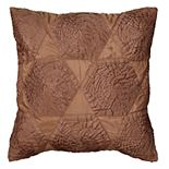 Rizzy Home Floral Transitional Bronze Throw Pillow