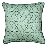 Laura Fair By Rizzy Home Geometric Transitional Green Throw Pillow