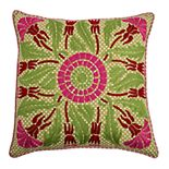 Rizzy Home Floral Transitional Lime Throw Pillow