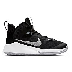 premium selection ba284 339ca Nike Future Court Grade School Boys  Basketball Shoes. Black White Red Black