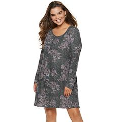 Juniors' Plus Size Mudd® Lace-Up Sleeve Dress