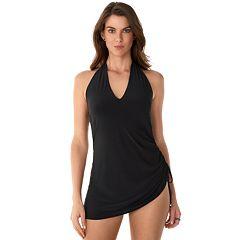 Women's Apt. 9® Tummy Slimmer Halter One-Piece Swimdress