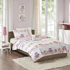 Mi Zone Kids Nocturnal Nellie Printed Coverlet Set
