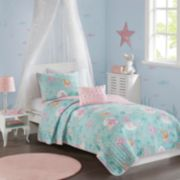 Mi Zone Kids Leilani Printed Mermaid Coverlet Set