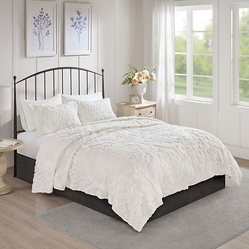 4afd9f28e9 Madison Park Aeriela 3-piece Cotton Chenille Coverlet Set
