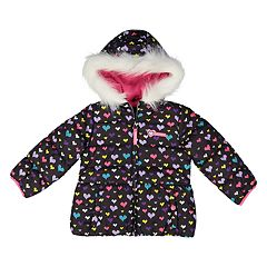 Toddler Girl Skechers Heart Heavyweight Puffer Jacket