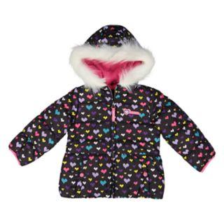 Toddler Girl Skechers Heart Heavyweight Puffer Jacket
