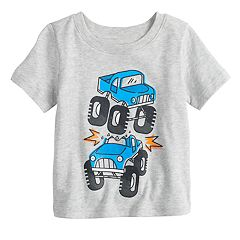 Baby Boy Jumping Beans® Monster Trucks Heathered Softest Graphic Tee