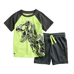 Toddler Boy Jumping Beans® Sporty Active Raglan Tee & Shorts Set