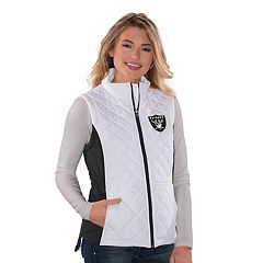 Women's Oakland Raiders Quilted Vest