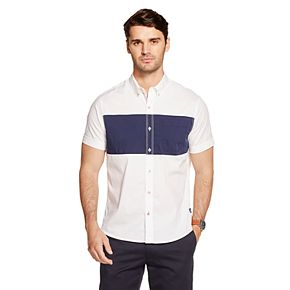 Men's IZOD Breeze Cool FX Never Tuck Classic-Fit Button-Down Shirt
