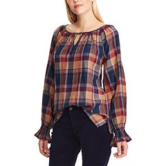 Women's Chaps Print Peasant Top