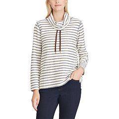 Women's Chaps Striped Cowlneck Top
