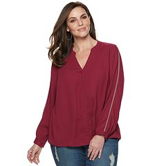 61b8fc10593102 Plus Size Jennifer Lopez Popover Top