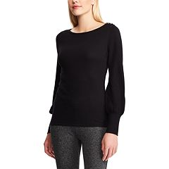 Women's Chaps Button-Shoulder Sweater