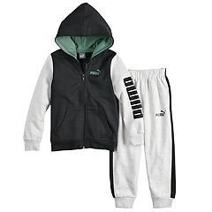 Boys 4-7 PUMA Colorblock Zip Hoodie & Jogger Sweatpants
