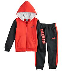 Boys 4-7 PUMA Colorblock Zip Hoodie & Jogger Sweatpants