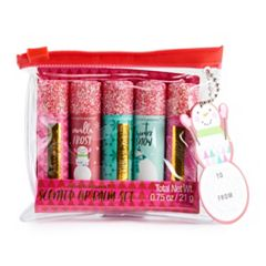Simple Pleasures Glitter 5-Piece Lip Balm Set