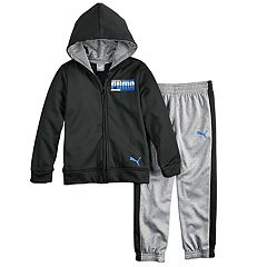 Boys 4-7 PUMA Zip Hoodie & Striped Pants Set