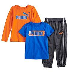 Boys 4-7 PUMA Tees & Pants Set
