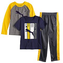 Boys 4-7 PUMA Tees & Pants Set